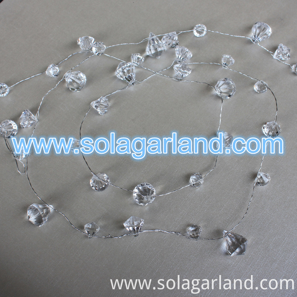 Crystal Diamond Bead Garland